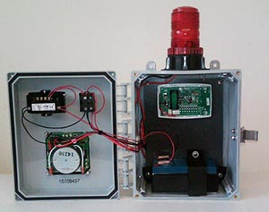 Inside view of FireBreaker - Wireless Fire Detection System